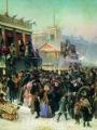 Маковский, Константин Народное гулянье во время масленицы на Адмиралтейской площади в Петербурге2