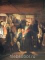 Максимов, Василий  Приход колдуна на крестьянскую свадьбу. 1875