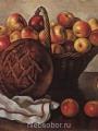 Серебрякова, Зинаида  Натюрморт с яблоками и круглым хлебом
