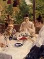 Коровин Константин Алексеевич-За чайным столом