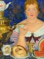 Кустодиев, Борис Купчиха за чаем