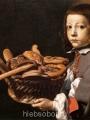 Baschenis,  Evaristo Boy with a basket of bread