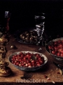 Beert, Osias  Still Life with cherries and strawberries in porcelain bowls