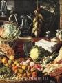 Beuckelaer,  Joachim  Keukenscene met Christus en de Emmausgangers