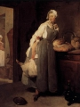 Chardin, Jean Baptiste Siméon    Servant Returning from the Market (La Pourvoyeuse)