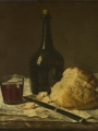 Chardin, Jean Baptiste Siméon    Still Life with Bottle, Glass and Loaf