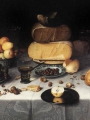 DIJCK, Floris Claesz van_Laid Table with Cheeses and Fruit