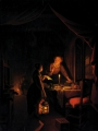 Dou, Gerrit Conversation by Candlelight