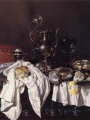 Heda, Gerrit Willemsz  Still-Life with Pie, Silver Ewer and Crab