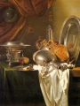 Kalf, Willem Still Life with Chafing Dish, Pewter, Gold, Silver and Glassware