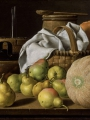 Meléndez, Luis Eugenio  Still Life with Melon and Pear