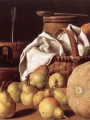Meléndez, Luis Eugenio Still-Life with Melon and Pears