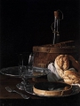 Melendez, Luis Eugenio Still-Life with a Box of Sweets and Bread Twists