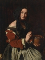 Maestro della Tela Jeans A humbly dressed woman warming her hands over a brazier