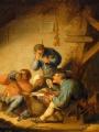OSTADE, Adriaen Jansz van Interior with Drinking Figures and Crying Children