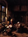 OSTADE, Adriaen Jansz. van_The Interior of a Peasant's Cottage