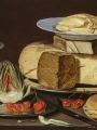 Peeters, Clara  Still Life with Cheeses Artichoke and Cherries