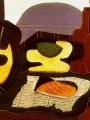 Picasso, Pablo  Mandoline, Panier De Fruits,Bouteille Et Patisserie
