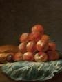 Porte, Henri Horace Roland De La Still Life with Loaf of Bread, a Plum
