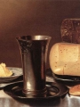 Schooten, Floris Gerritsz van  Still-Life with Glass, Cheese, Butter and Cake (2)