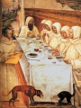 Sodoma, Il Saint Benedict and His Monks Eating in the Refectory