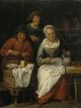 TILBORGH, Gillis van Крестьяне за едой