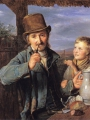 Waldmuller, Ferdinand Georg The day laborer with his son