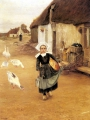 Wallen, Gustaf Theodor The Little Goosegirl