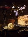 Ykens, Frans  A Still Life Of A Pie And Sliced Lemon On Pewter Dishes, A Vase Of Flowers, A Glass Of Beer (2)
