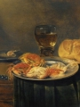 Adriaenssen, Alexander A Still Life with Roses, a Jug, a Loaf of Bread