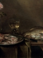 Adriaenssen, Alexander     Roses and an iris in a glass vase, crabs and prawns on a pewter platter