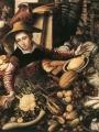 Aertsen, Pieter  Market Woman with Vegetable Stall