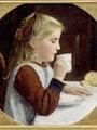 Anker, Albert  Samuel  Girl drinking coffee